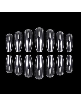 Ecbasket 500 Pcs Coffin Nails Clear Ballerina Nail Tips Perfect Length Acrylic Nails Full Cover False... by Ecbasket