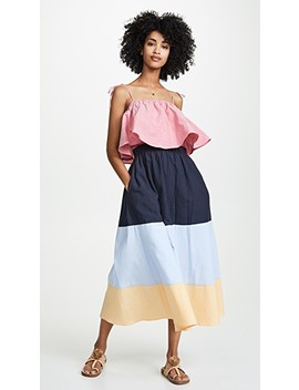 Colorblocked Maxi Dress by English Factory