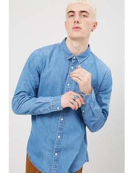Fitted Chambray Shirt by Forever 21