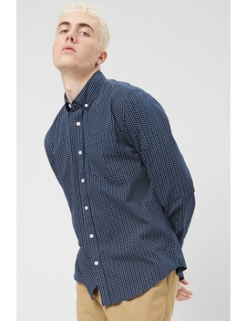 Classic Geo Pin Dot Shirt by Forever 21