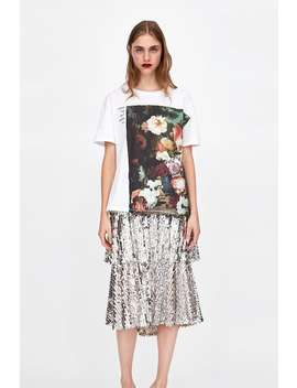Floral Print T  Shirt$9.99 Best Of Sale Woman Sale by Zara