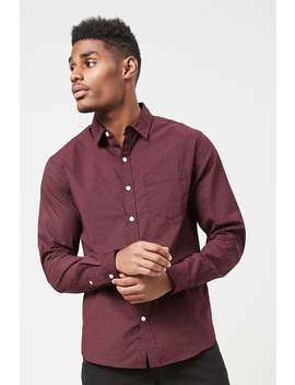 Micro Dot Pocket Shirt by Forever 21