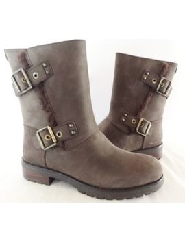 Ugg Australia Niels Boots Womens 6 Water Resistant Stout Leather W/Shearling New by Ebay Seller
