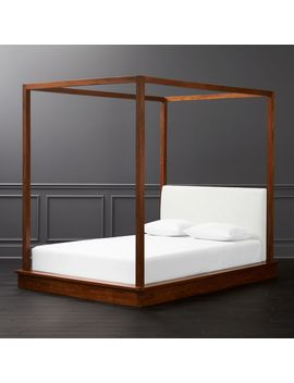 Bali Wood Canopy Bed Queen by Crate&Barrel