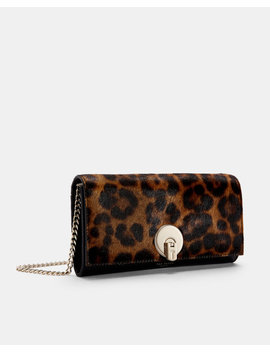 Leopard Print Matinee Purse With Strap by Ted Baker