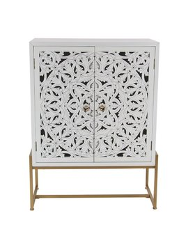 Bungalow Rose Springhill Traditional Carved 2 Door Accent Cabinet & Reviews by Bungalow Rose