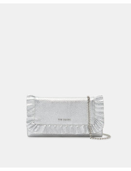 Ruffle Leather Cross Body Matinee Purse by Ted Baker
