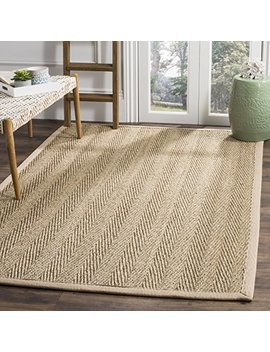 Safavieh Natural Fiber Collection Nf115 A Herringbone Natural And Beige Seagrass Area Rug (5' X 8') by Safavieh