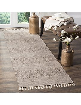 "Safavieh Montauk Collection Mtk330 M Ivory And Steel Grey Runner (2'3"" X 6') by Safavieh"