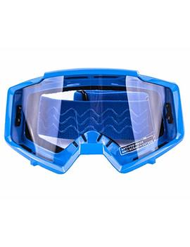 Typhoon Motocross Goggles Dirt Bike Atv Goggles Motorcycle Off Road Unisex Adult And Youth   Blue W/Clear Lens by Typhoon Helmets