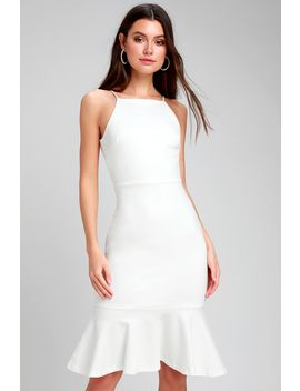 This Could Be Love White Bodycon Midi Dress by Lulus