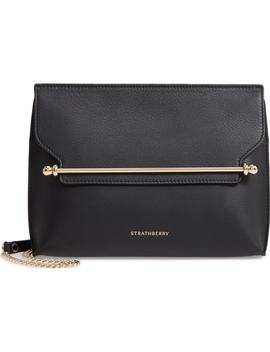 East/West Calfskin Leather Clutch by Strathberry