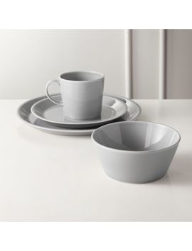 Bernard Grey Dinnerware by Crate&Barrel