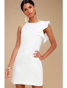 Dinah White One Shoulder Dress by Lulus