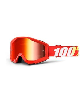 100 Percents Unisex Adult Speedlab (50410 232 02) Strata Goggle Furnace Mirror Red Lens, One Size by 100%