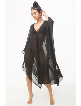 Chiffon Kaftan Swim Cover Up by Forever 21