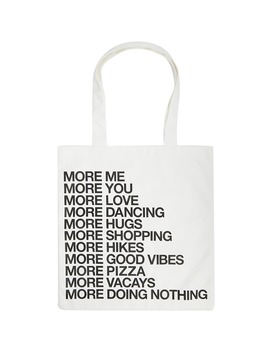 More Graphic Tote Bag by Forever 21