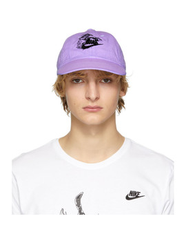 Purple Nike Edition Witch Six Panel Cap by Erl