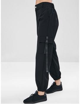 Zaful Zipper Cargo Pants   Black M by Zaful