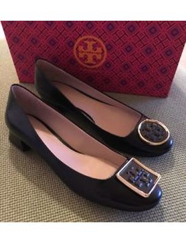 Tory Burch Rare Black Twiggie Boxcalf Kitten Pumps Sz 8 W/Box Msrp $265 Sold Out by Tory Burch