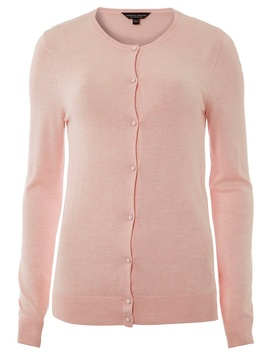Pink Button Cardigan by Dorothy Perkins