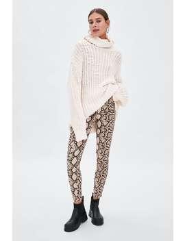 Snakeskin Print Skinny Jeans  Trouserstrf Sale by Zara