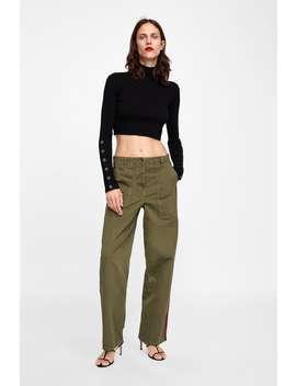 Trousers With Side Stripes  Jeanswoman Sale by Zara