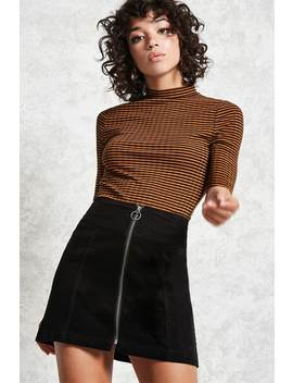 A Line Curduroy Skirt by Forever 21
