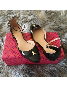 New Tory Burch Gemini Link Bow Flats Size 8Nwt by Tory Burch