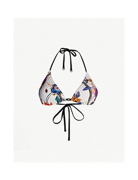 Robyn Floral Print Triangle Bikini Top by Reiss