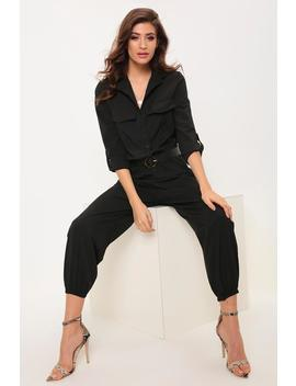 Black Utility Jumpsuit by I Saw It First