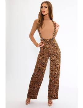 Brown/Black Tiger Print Dungarees by I Saw It First