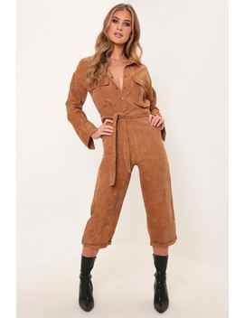 Brown Cord Utility Jumpsuit by I Saw It First