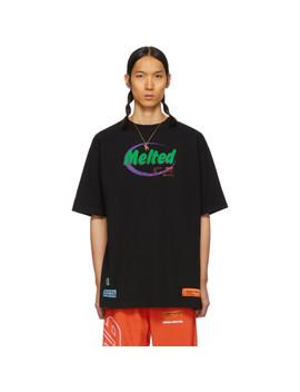 Black 'melted' Regular T Shirt by Heron Preston