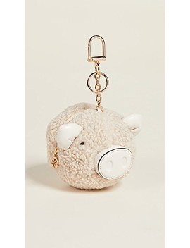 Sherpa Pig Pom Pom Key Fob by Tory Burch