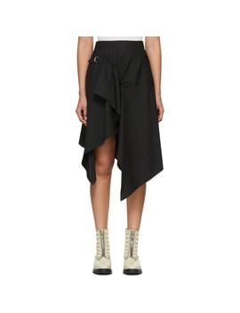 Black Tailored Handkerchief Skirt by 3.1 Phillip Lim