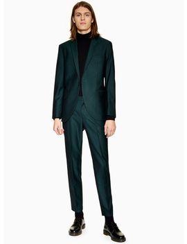 Green Slim Trousers by Topman