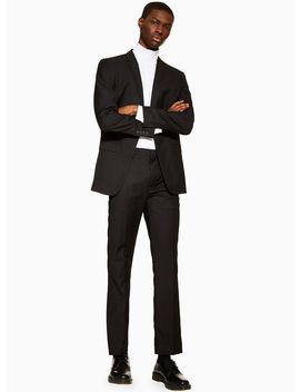 Black Slim Fit Trousers by Topman