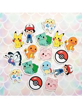 40 Pack Pokemon Pokeball Pikachu Anime Kawaii Stickers/Sticker Set by Etsy