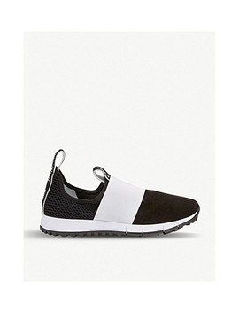 Oakland Suede And Mesh Trainers by Jimmy Choo