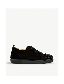 Louis Junior Spikes Woman Flat Veau Velo by Christian Louboutin