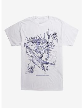 Dc Comics Aquaman Sketch T Shirt by Hot Topic