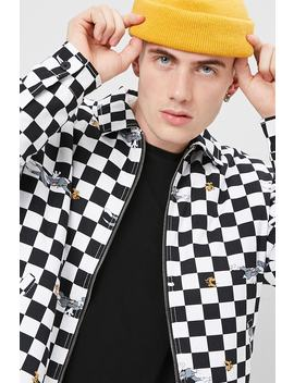 [Men]Tom & Jerry Graphic Checkered Jacket by Forever 21