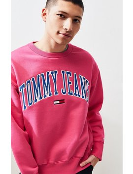 Tommy Jeans Classic Logo Crew Neck Sweatshirt by Pacsun