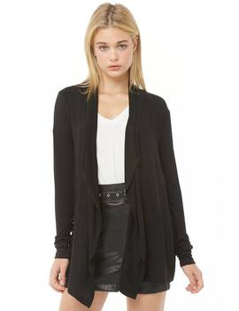 solid-draped-cardigan by forever-21