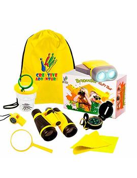 Outdoor Exploration 10 Piece Kit | Kids Binocular, Pretend Bug And Collector, Flashlight, Compass, Magnifying Glass, Whistle & Backpack | Boys Girls Gift Age 3,4,5,6,7,8,9 | Educational, In & Outdoor by Perfectly Made Binoculars For Kids