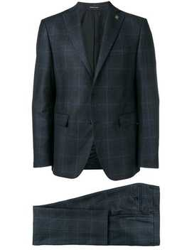 Checked Two Piece Suit by Tagliatore