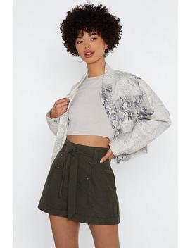Just Button My Way Out High Waisted Shorts by Nasty Gal