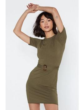 Ribbed And Ready Mini Dress by Nasty Gal