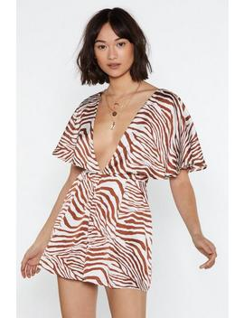 Heading On Safari Zebra Romper by Nasty Gal